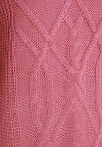 Dorothy Perkins Tall - CABLE HIGH NECK JUMPER - Jumper - pink - 2