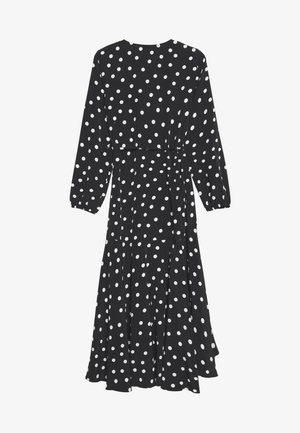 SPOT MIDI WRAP DRESS - Kjole - mono