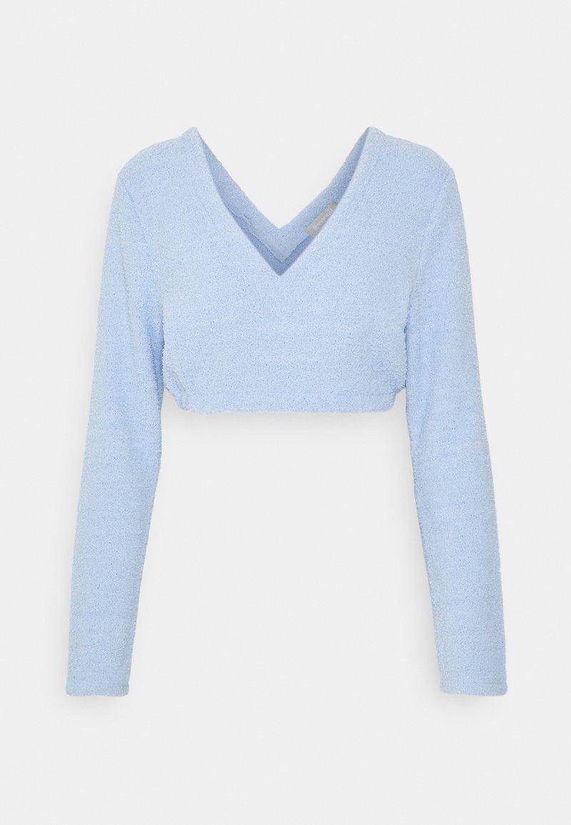 Loungeable - FUZZY LONG SLEEVE CROP - Pyjamasoverdel - blue