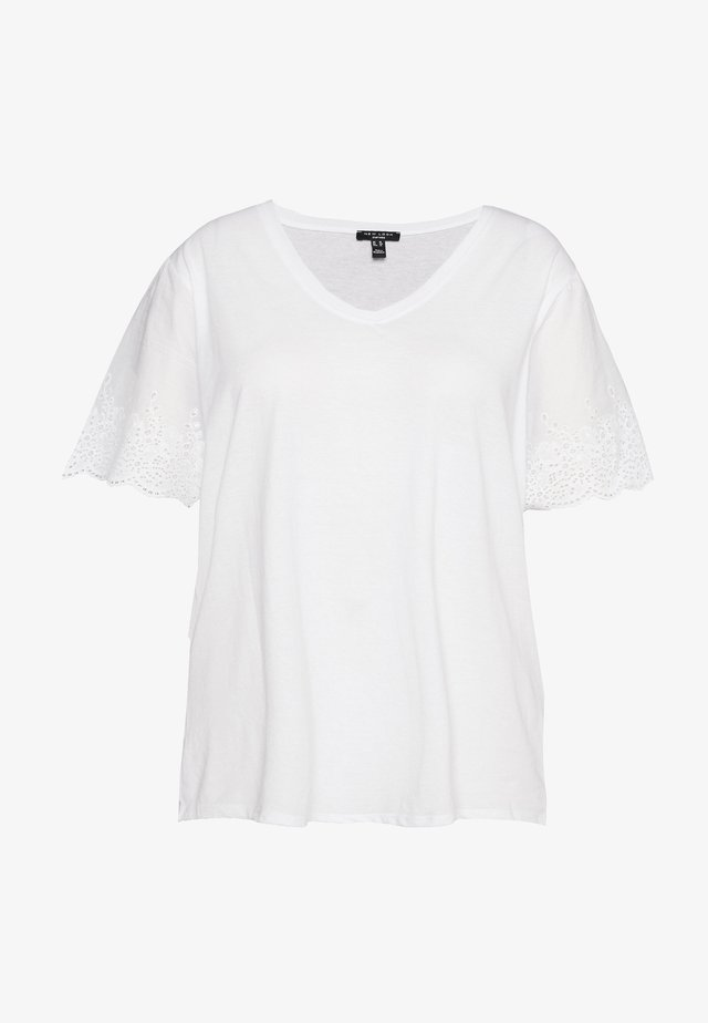 BRODERIE TEE - Print T-shirt - white