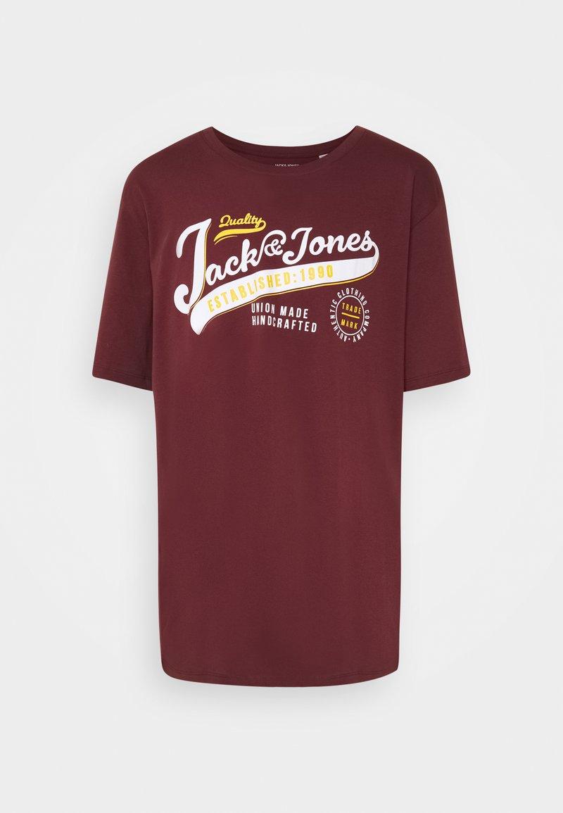 Jack & Jones - JJELOGO TEE O NECK - T-shirt med print - port royale