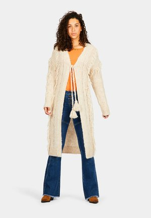 LONG KNITTED - Cardigan - cream