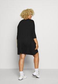 Missguided Plus - OVERSIZED DRESS - Trikoomekko - black - 2