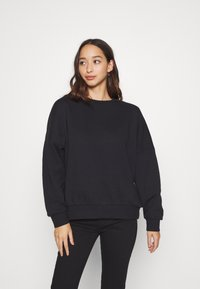 Even&Odd - OVERSIZED CREW NECK SWEATSHIRT - Collegepaita - black - 0
