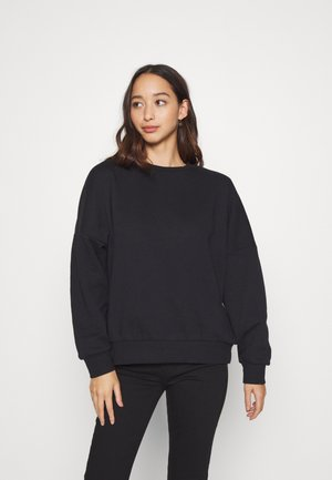 OVERSIZED CREW NECK SWEATSHIRT - Felpa - black