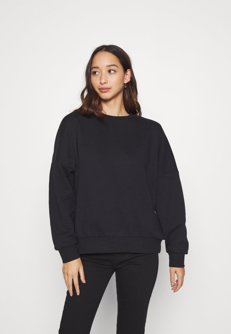 Even&Odd - OVERSIZED CREW NECK SWEATSHIRT - Collegepaita - black
