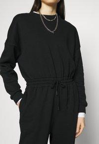 Even&Odd - SWEAT - Oversized comfy - Overall / Jumpsuit /Buksedragter - black - 5