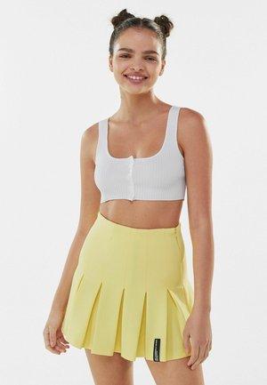 MIT KELLERFALTEN - Plisovaná sukně - yellow
