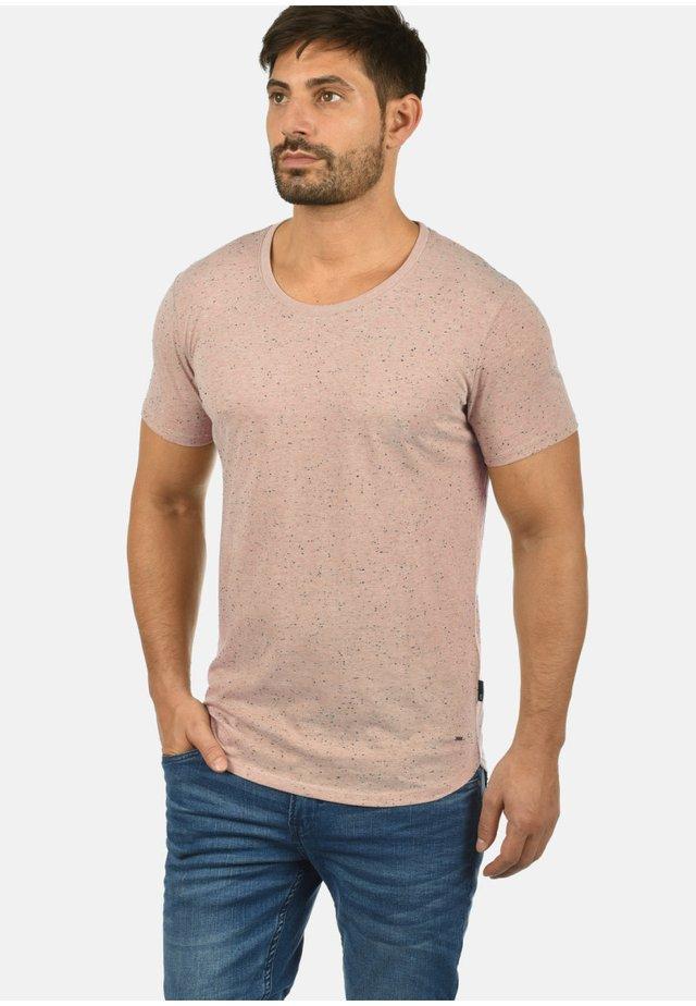 THIAS - Basic T-shirt - mahog. ros