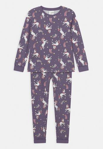 MINI UNICORNS STARS - Pyjama set - dark dusty lilac