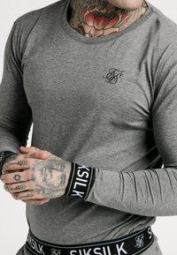 SIKSILK - LOUNGE TEE - Top sdlouhým rukávem - grey - 4