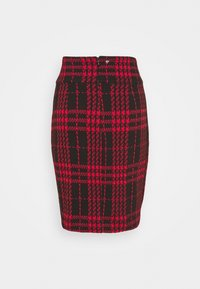 Guess - MADIHA SKIRT - Gonna a tubino - black/red