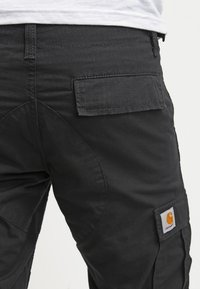 Carhartt WIP - AVIATION PANT COLUMBIA - Bojówki - black rinsed - 3