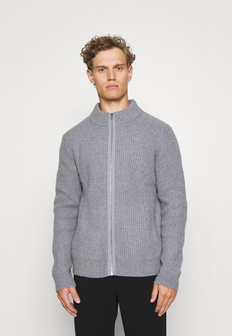 Filippa K - ASHER ZIP  - Cardigan - mid grey