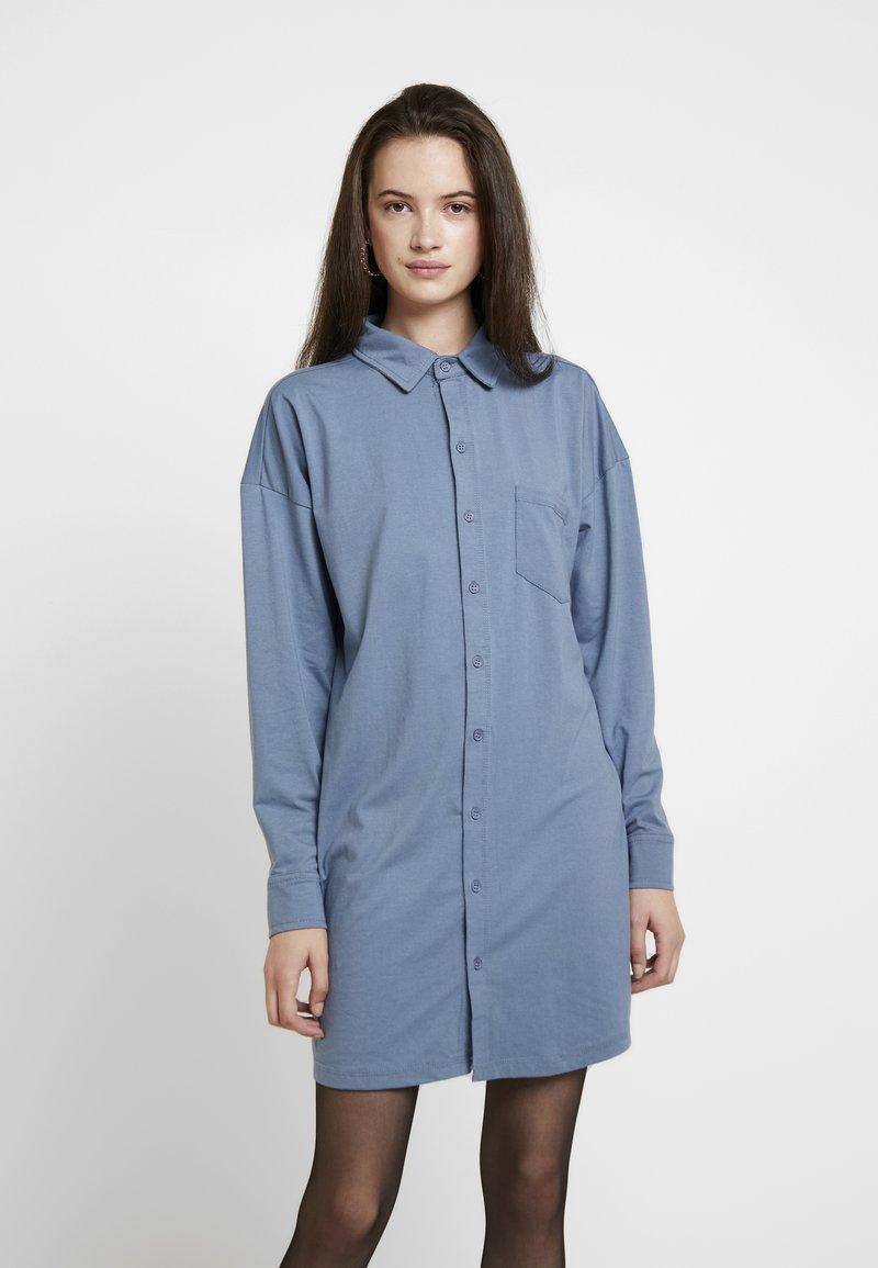 Missguided - DRESS PLAIN - Shirt dress - blue
