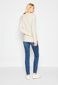 TOM TAILOR - SWEATER NEW OTTOMAN - Pullover - dusty alabaster melange - 3