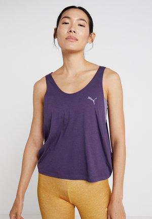LAYERED VEST - Sports shirt - indigo