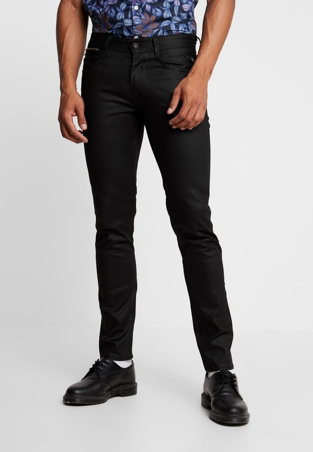 ANBASS COIN ZIP - Jeans Skinny Fit - black