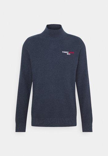 TJM SMALL LOGO SWEATER - Stickad tröja - twilight navy heather