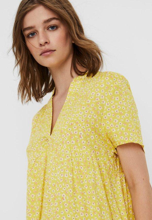 Vero Moda Tunika - celandine/musztardowy NLUG