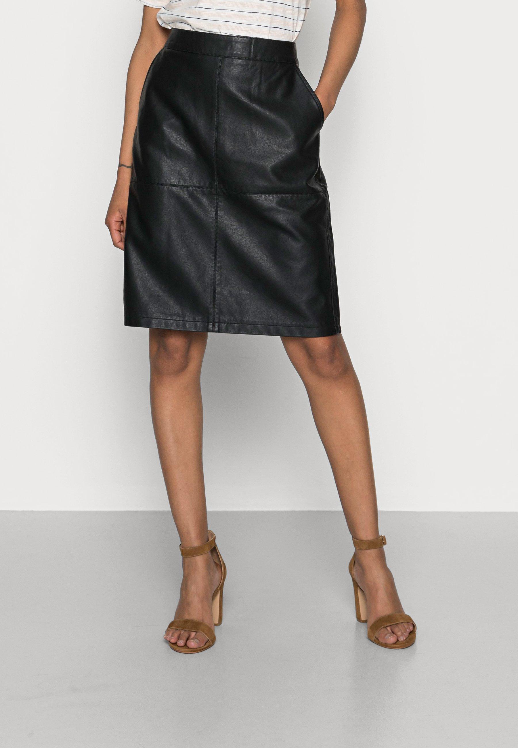 Femme SC-AMALIE 5 - Jupe en cuir