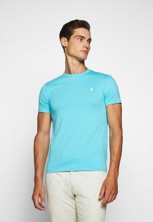 CUSTOM SLIM FIT CREWNECK - Basic T-shirt - french turquoise
