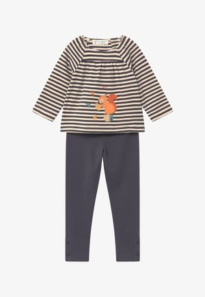 LINDA BABY SET - Legging - navy/beige