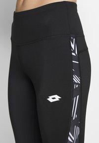 Lotto - VABENE CAPRI - Leggings - all black/bright white - 4