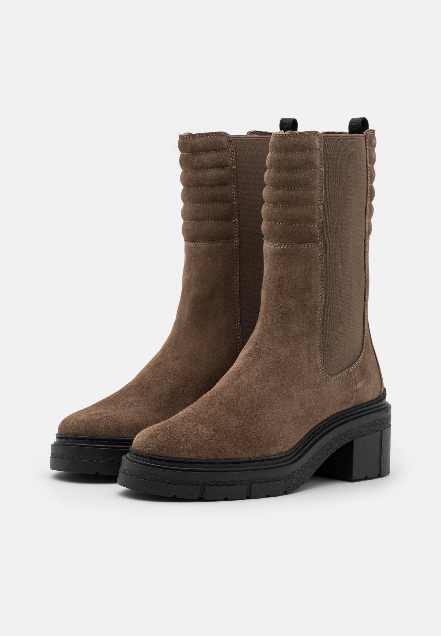 Unisa JINA Plateaustiefel taupe/taupe