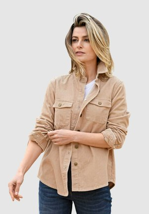 Button-down blouse - hellbraun