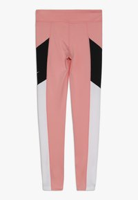 Nike Performance - TROPHY - Legginsy - bleached coral/white/black - 1