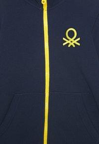 Benetton - veste en sweat zippée - dark blue - 2