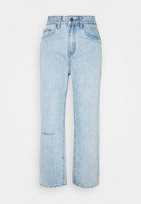 Lost Ink Petite - STRAIGHT PIPE LEG RIP - Straight leg jeans - mid denim - 0