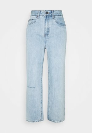 STRAIGHT PIPE LEG RIP - Jeans Straight Leg - mid denim