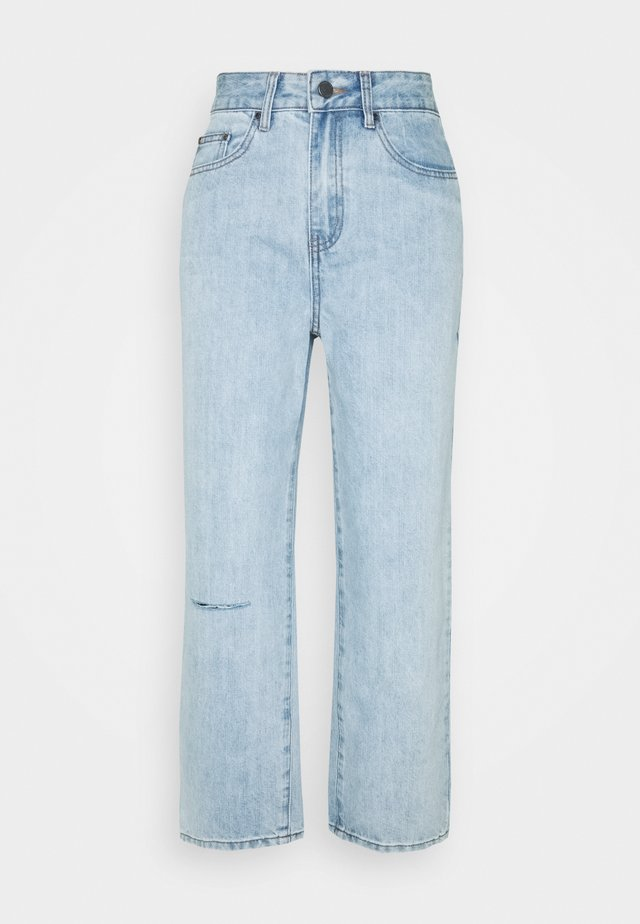 STRAIGHT PIPE LEG RIP - Jean droit - mid denim