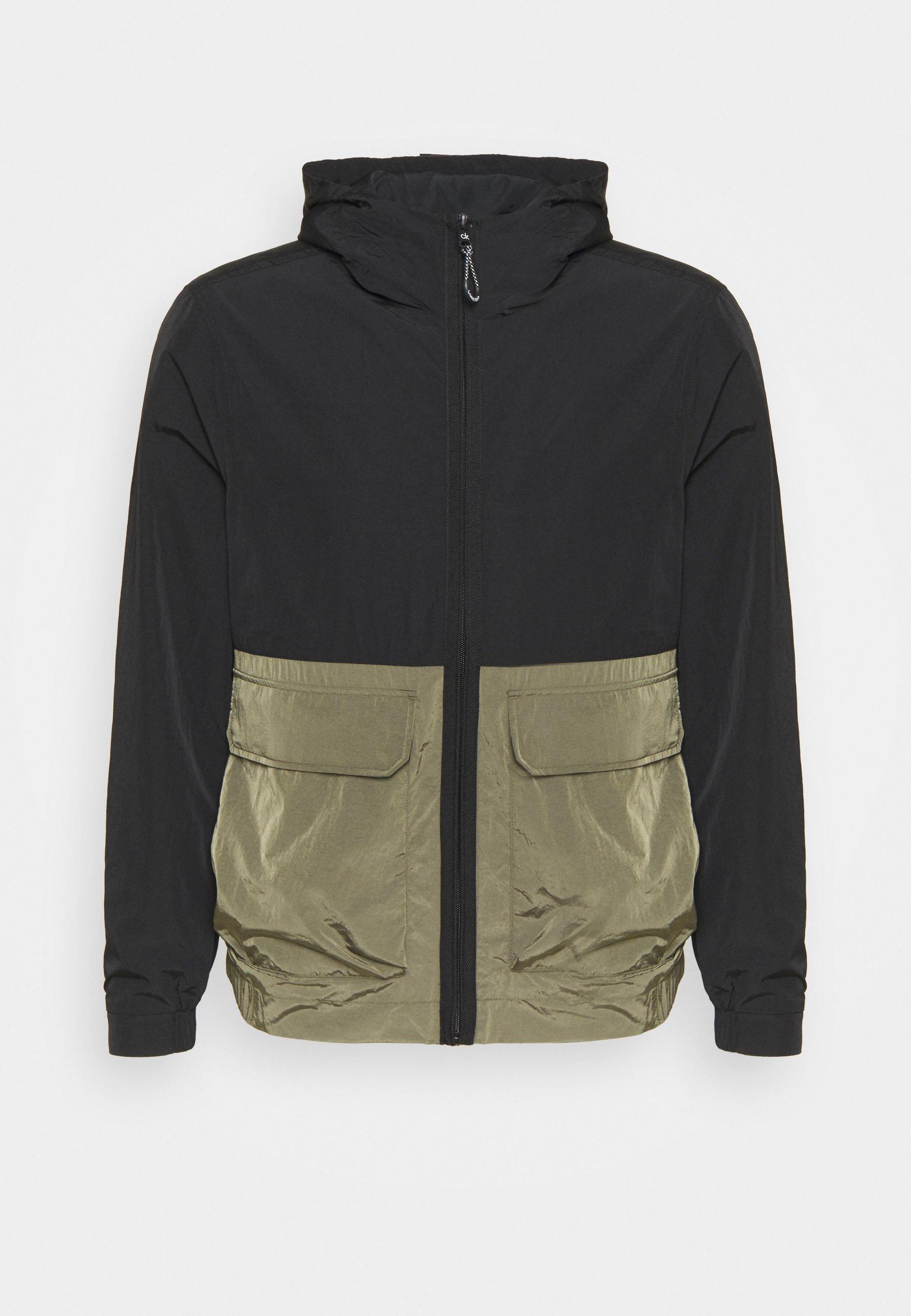 Men CRINKLE HOODED WINDCHEATER - Summer jacket