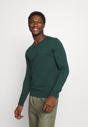 Strickpullover - midnight forest green mélange