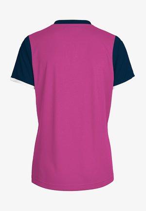 CORE SS - Print T-shirt - rose violet/marine pr