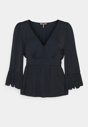 DRAPEY WITH SCALLOPED EDGES - Blouse - night