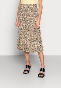 Moss Copenhagen - MABEA SKIRT - A-line skirt - black flower - 0