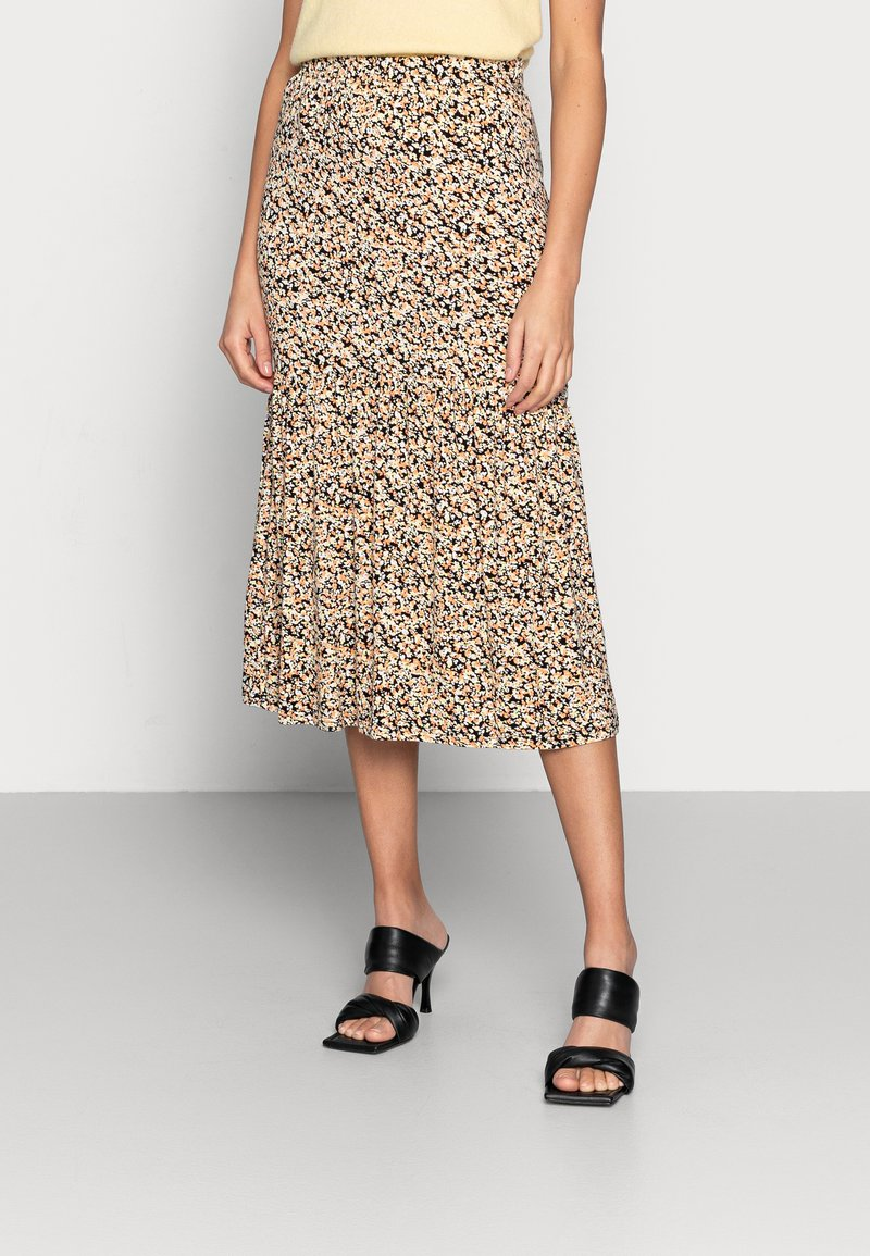 Moss Copenhagen - MABEA SKIRT - A-line skirt - black flower