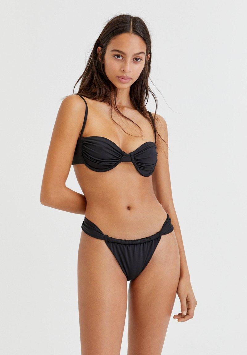 PULL&BEAR - Bikini top - black