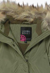 Lemon Beret - SMALL GIRLS - Winter coat - deep lichen green - 3