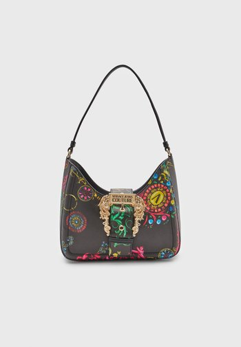 BAROQUE SAFFIANO SHOULDER BAG - Handbag - nero