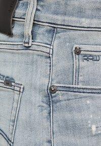 G-Star - 3301 SLIM SHORTS - Shorts di jeans - vintage nassau destroyed - 4