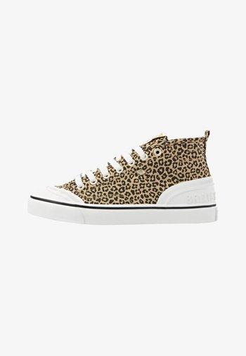 SUB MID - Korkeavartiset tennarit - leopard