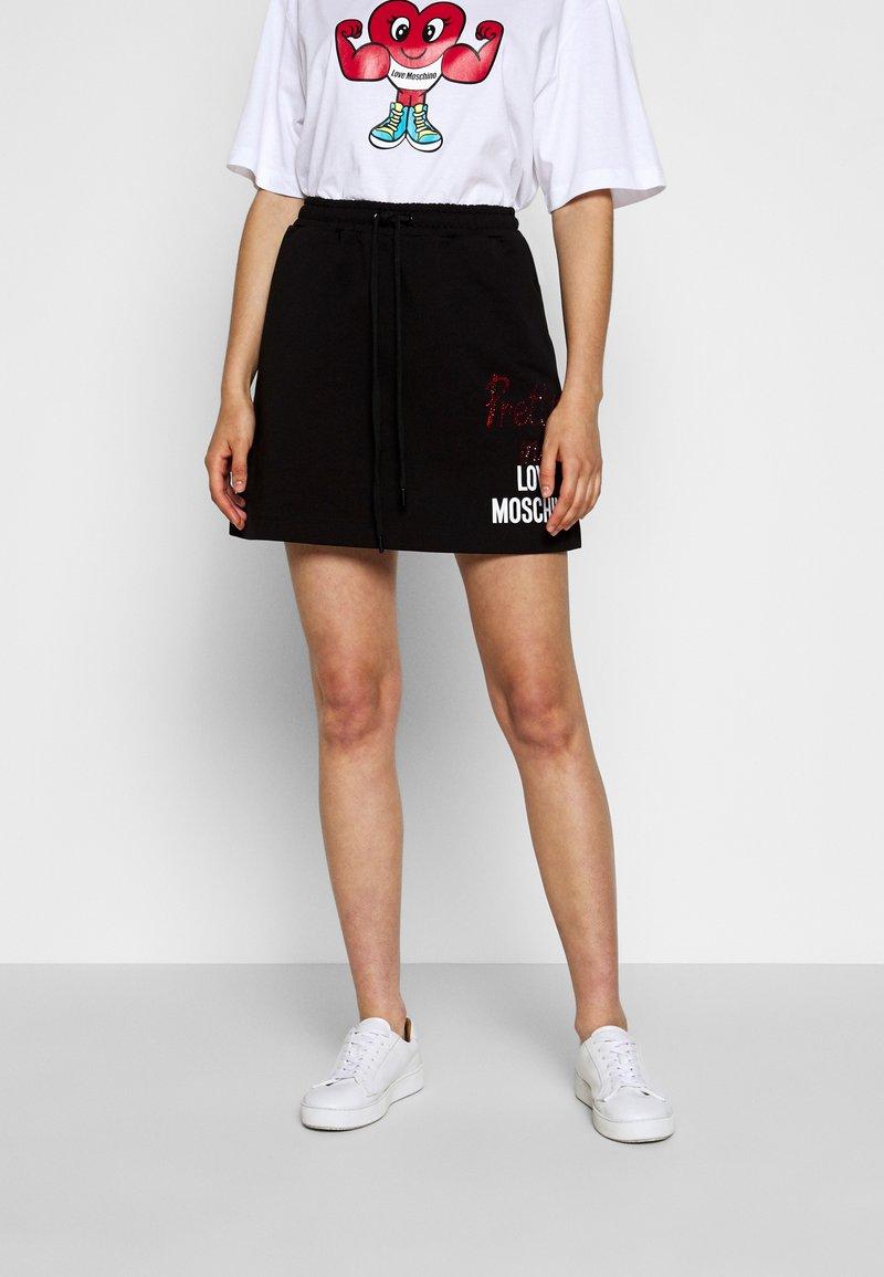 Love Moschino - A-line skirt - black