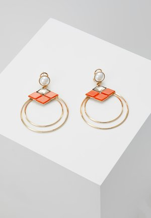 Earrings - orange/gold-coloured