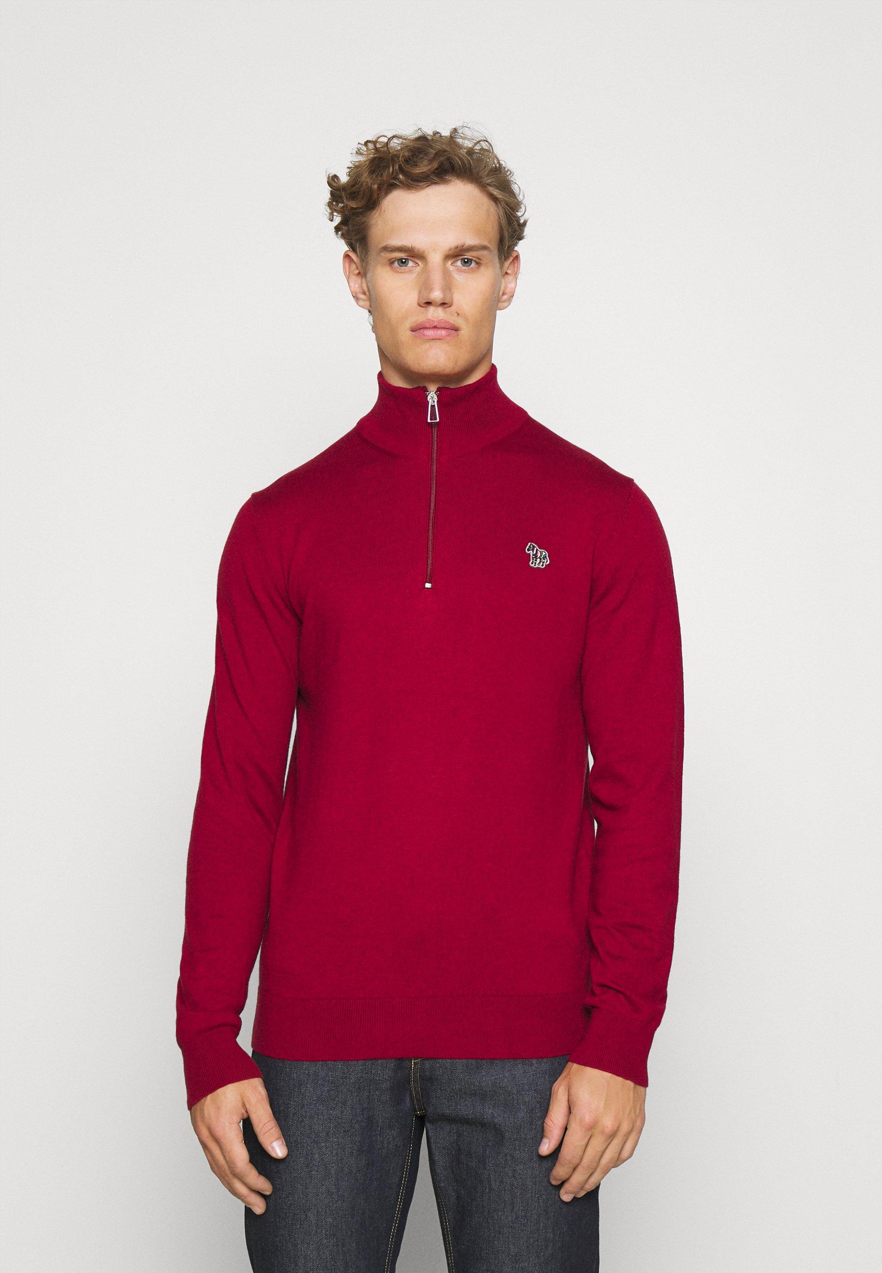 Homme ZIP NECK ZEBRA - Pullover