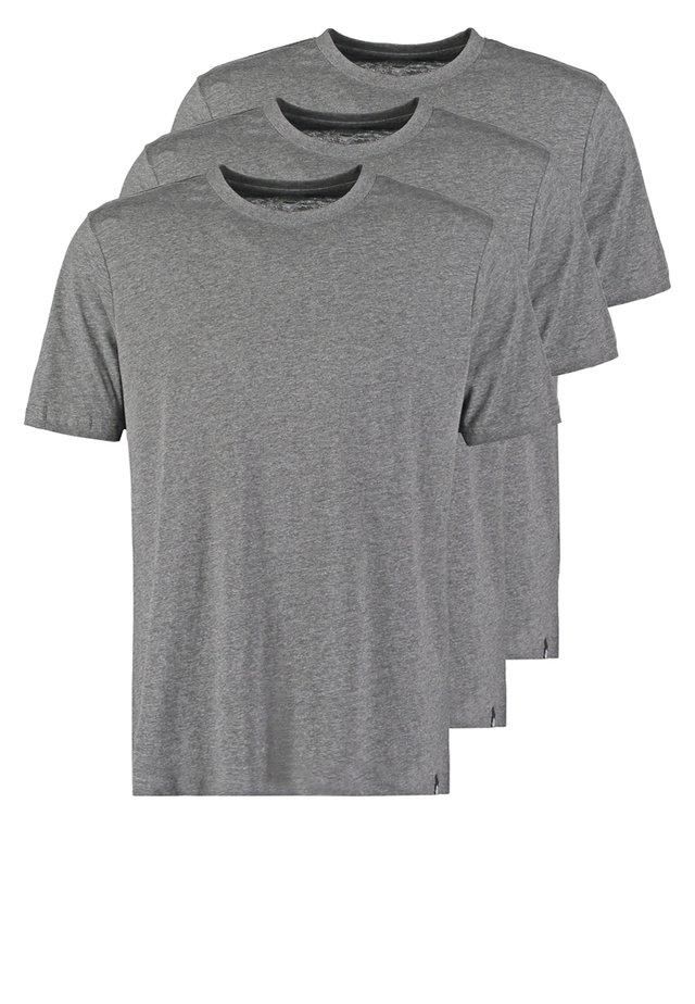 3PACK - T-shirts - dark grey